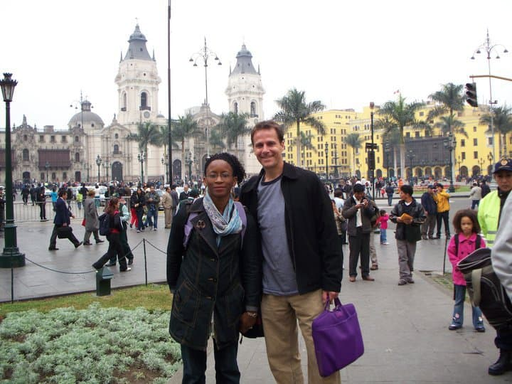 Steve and his wife in Lima Peru
