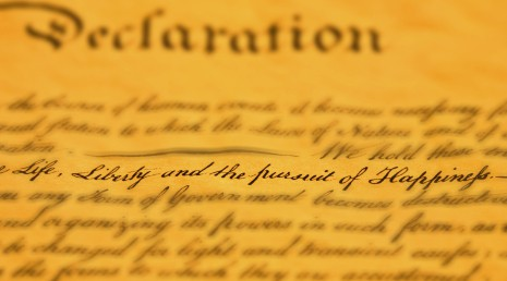 "A line in the declaration of independence that says ""life liberty and the pursuit of happiness"""
