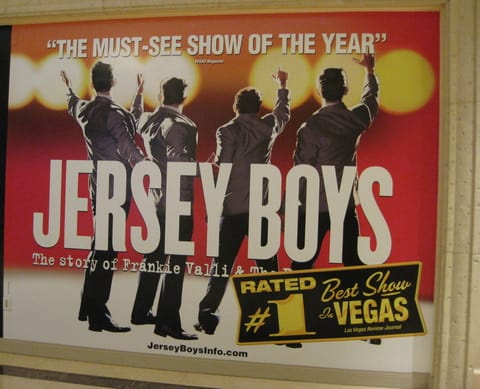 A poster for the Broadway show Jersey Boys